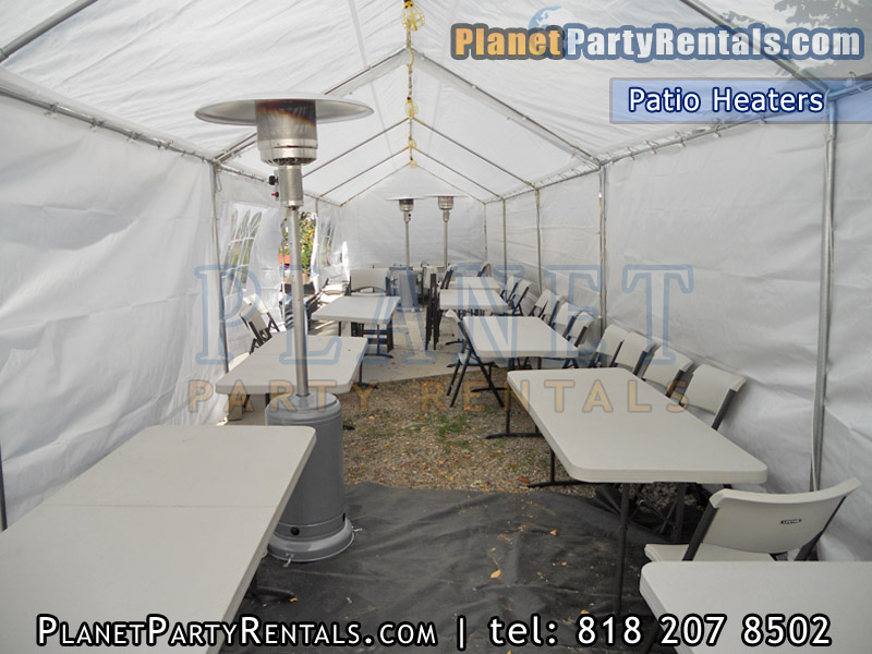 Tables and Chairs Rental Price & Outdoor Patio Heater Rentals includes Propange Gas Tank |Party ...