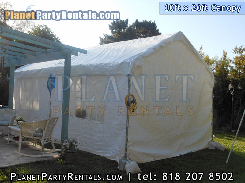 10ft x 30 ft Canopy with tables and chair party rental equipment in the valley van nuys mission hills north hills north hollywood woodland hills burbank encino sherman oaks arleta  | Patio Heaters Chafing Dishes Table Cloths Bathrooms Tents & Canopy