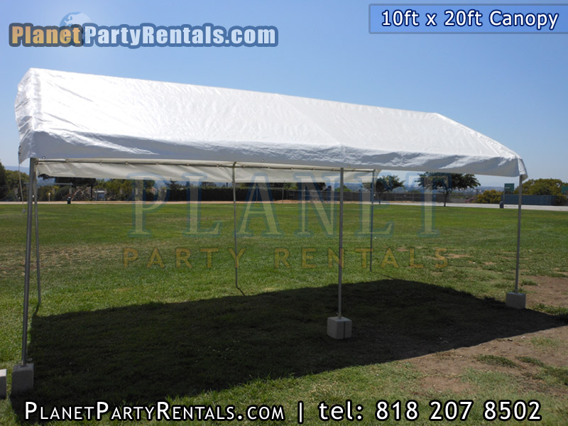 10ft x 20ft canopy/tent provides shade for you guests, the tent comes with sidewalls to cover up any side that you need covered, canopy/tents available for rent in the San Fernando Valley