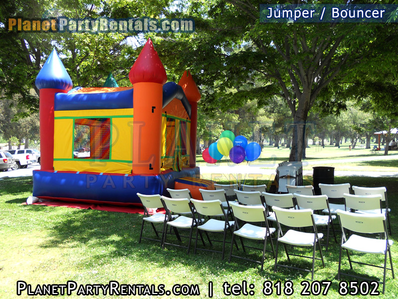 Jumper Bouncer Rentals | Rent  Rectangular or Round tables with a jumper/bouncer | we also carry linen table cloths available, rentals available in the valley