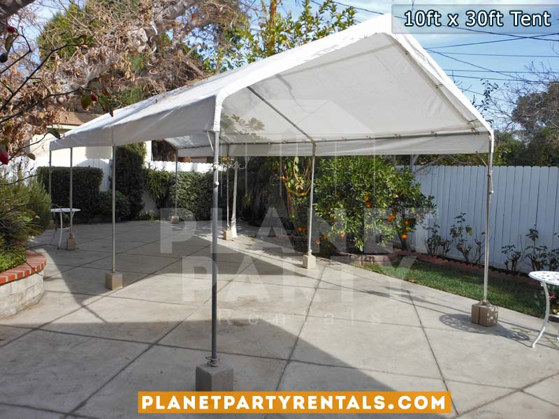 10ft x 30ft white tent | San Fernando Valley Tent rentals | Party tent prices pictures and party tent packages available