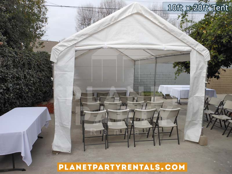 10ft x 20ft tent with sidewalls | Tent Packages available | SanFernandoValley Tent/Canopy Rentals
