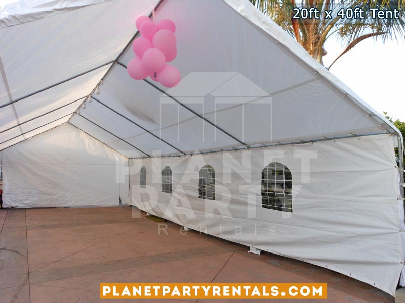 20ft x 40ft White Tent | San Fernando Valley Party Tent Rentals | Tent Rentals | Tent Pictures