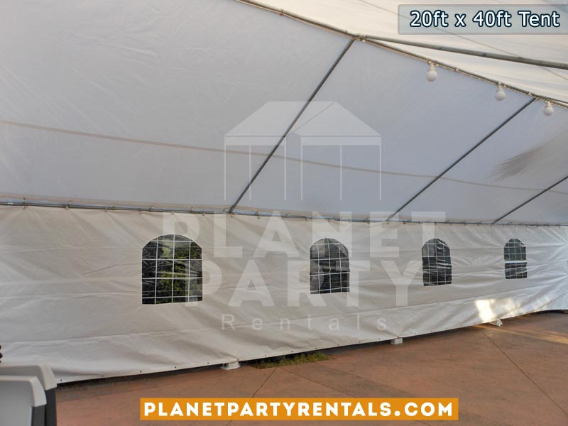 20ft x 40ft white party tent | Party tent packages available with tables and chairs | Panorama City, Reseda, Van Nuys, North Hills, North Hollywood