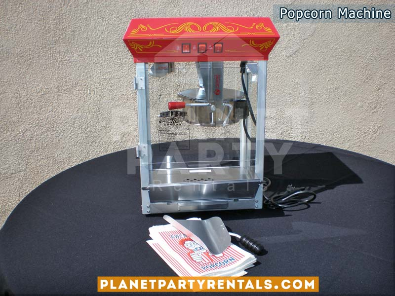 Popcorn Machine Rentals | Popcorn Rental includes popcorn kernels and butter kit