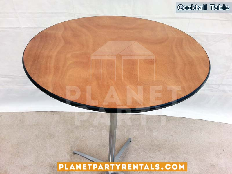 Round Cocktail Table – 30″ Round / 42″ Table Height