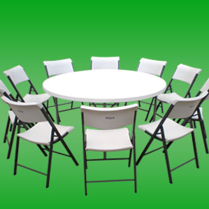 need round tables and chairs, need linen table cloths, we have table and chairs available to rent in the valley affordable prices and packages available